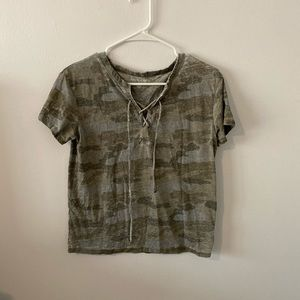 ARMY GREEN CAMO T-SHIRT